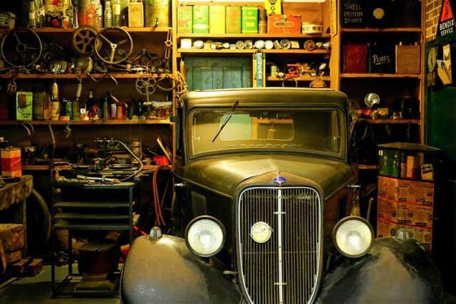 classic car in garage automotive restoration hobbies