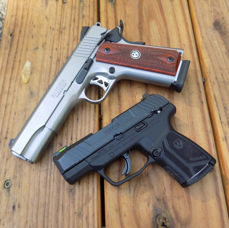 Ruger MAX-9 and SR1911 pistols