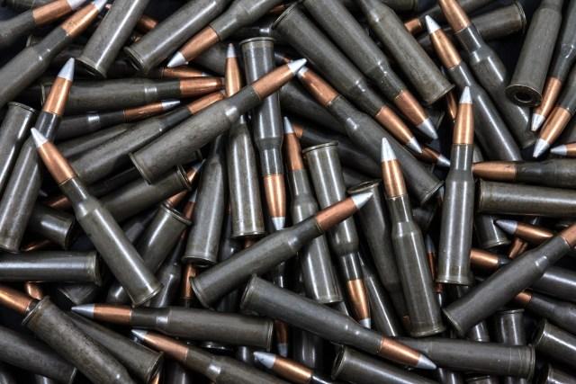 Pile of rifle ammo