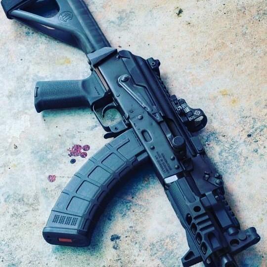 AK Pistol on Cement
