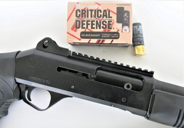 Shotgun and Hornady Defense Ammunition