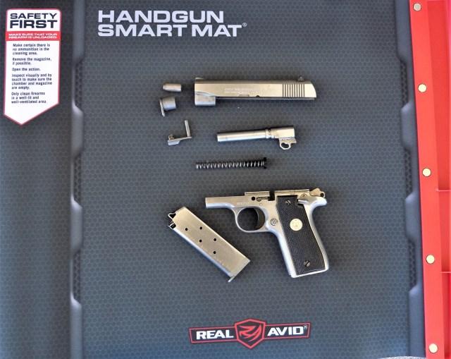 disassembled semi-auto pistol