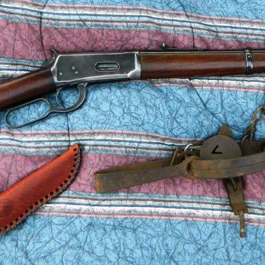 Antique Winchester .30-30 lever-action rifles