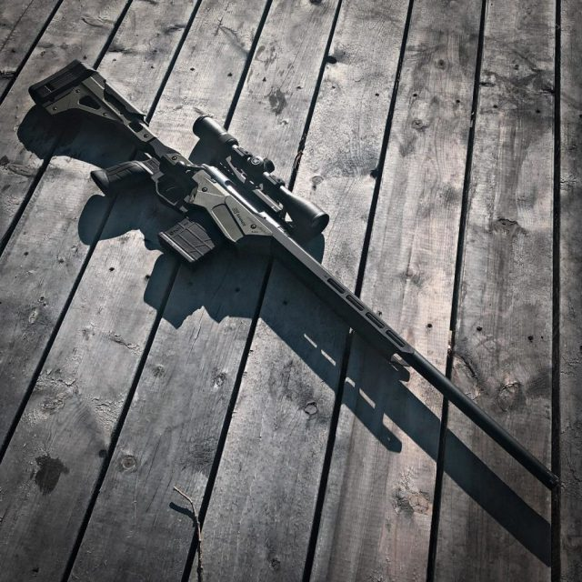 Bolt-action rifle with scope