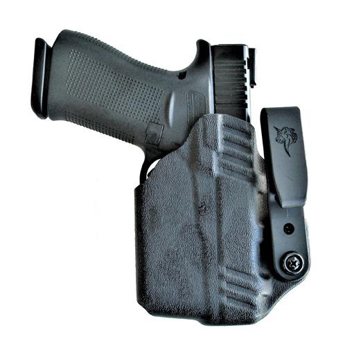 DeSantis Slim Tuck Kydex holster with Glock 43X pistol inserted