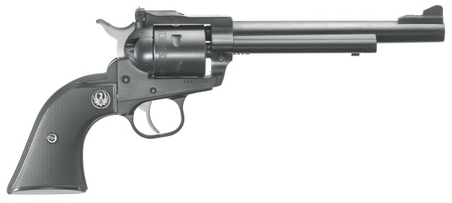 Ruger single six revolver in .22 magnum with adjustable sights right profile black