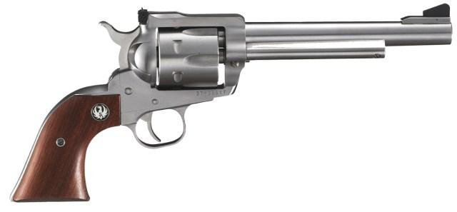 new model Blackhawk revolver stainless steel right profile