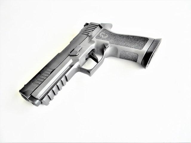SIG P320 X Five Legion pistol left profile washed gray