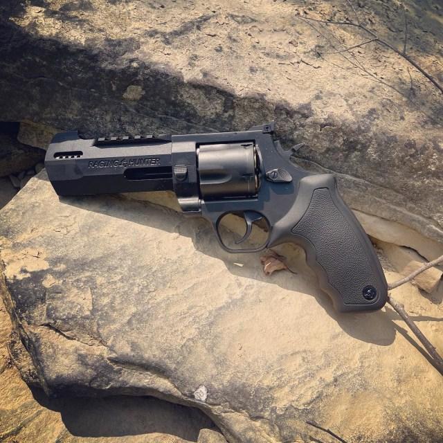 Taurus Revolver on stone