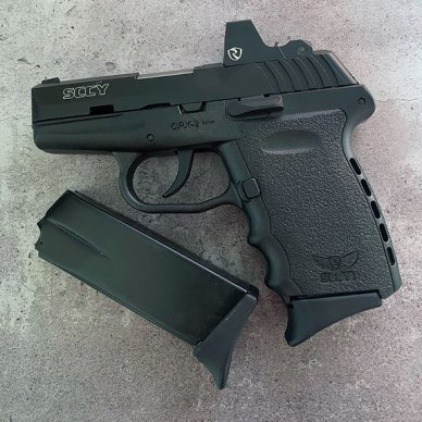 SCCY CPX-2RD pistol with extra 10-round magazine