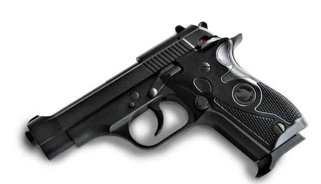 Tisas Fatih handgun left profile pointed down at a 45 degree angle