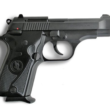 Tisas Fatih pistol right profile black with magazine inserted