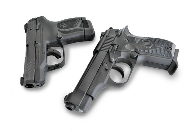 Ruger LCPII Max pistol, left and Tisas Fatih pistol right