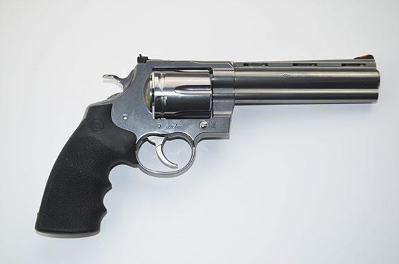 Colt Anaconda Revolver .44 magnum right profile stainless-steel
