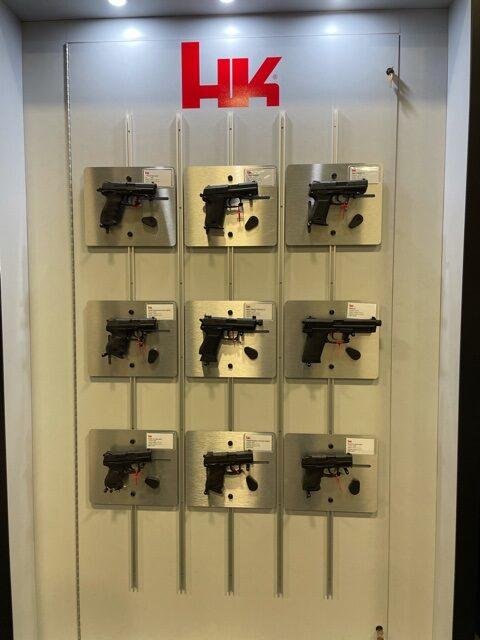 HK Pistols on wall