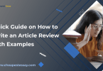 article review