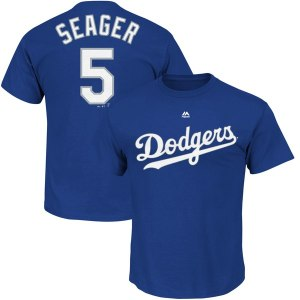 Men's Los Angeles Dodgers Corey Seager Majestic Royal Big & Tall Player T-Shirt