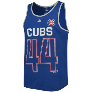 Men's Chicago Cubs Anthony Rizzo Majestic Royal Catch The Dream Tank Top
