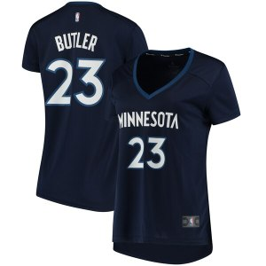 Women's Minnesota Timberwolves Jimmy Butler Fanatics Branded Navy Fast Break Replica Statement Edition Jersey