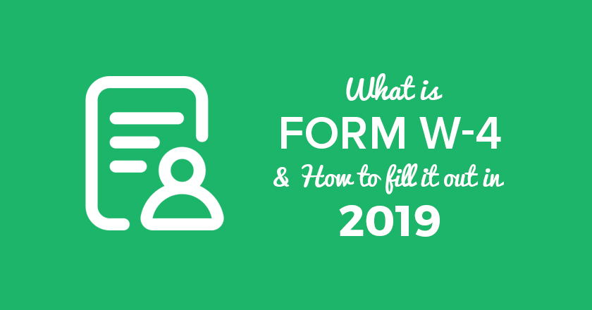 2020 W 4 Printable Form.What Is Form W 4 And How To Fill It Out In 2019 Checkmark Blog