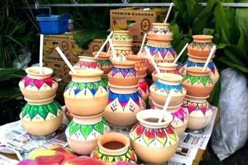 earthen pot lohri decoration