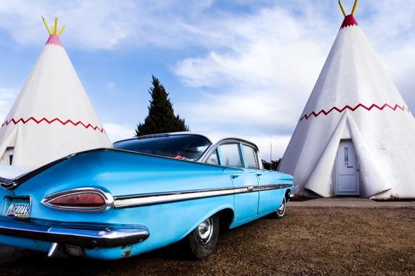 Hollbrook, Arizona, United States. Tee Pee Motel. Route 66