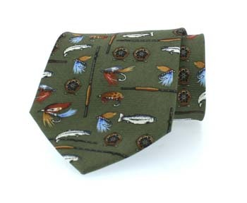 Hoggs of Fife Angling Silk Tie