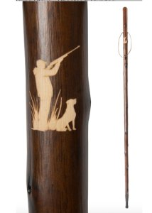 chestnut hiking staff - shooter & gun dog