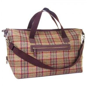 Iris tweed luggage bag