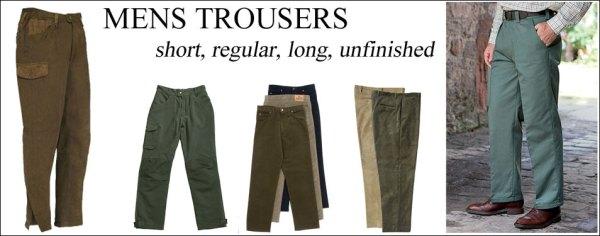 mens trousers leg lengths