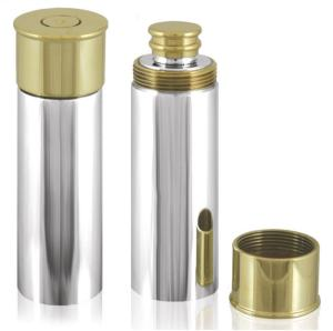Pewter Cartridge Hip Flask