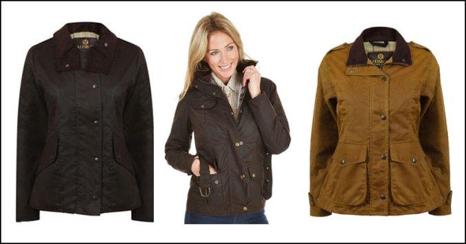 ladies wax jackets