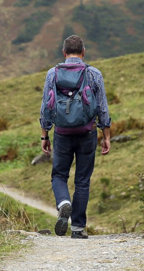 wearing the right gear when walking and hiking