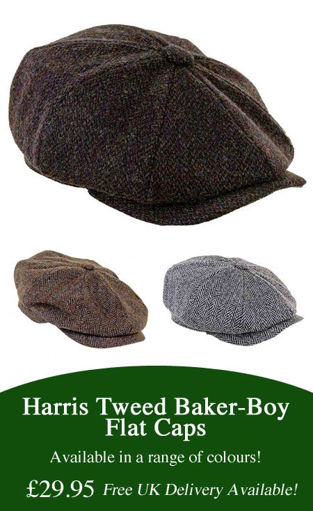 Harris Tweed Flat Caps