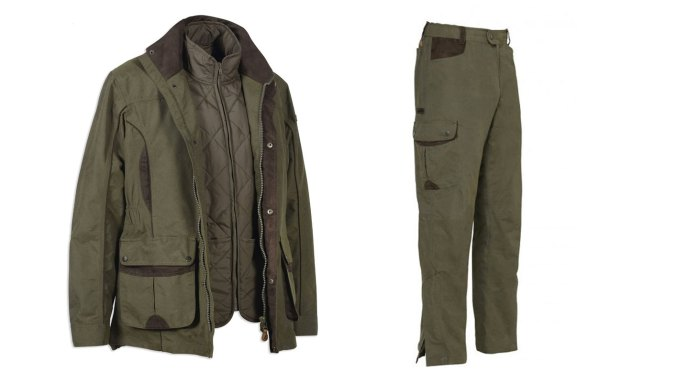 percussion normandie shooting jacket and trousers