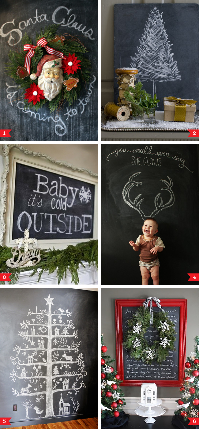 Chalkboard Decorating Ideas For Christmas Chickabug