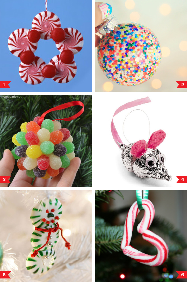 DIY Christmas Ornaments Made From Candy Chickabug