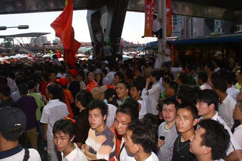 unhappy spectators