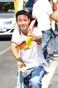 happy olympics supporter