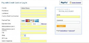 pay by credit card through paypal step 2