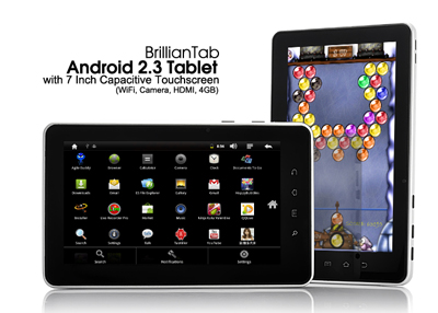 Android 2.3 Tablet with 7 Inch Capacitive Touchscreen
