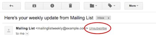 google new unsubscribing feature