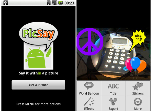 PicSay app