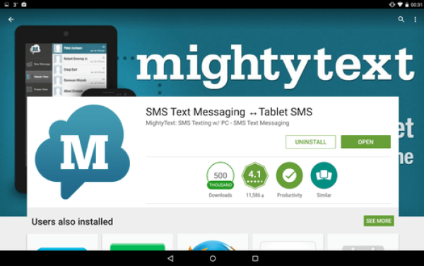 Mighty Text App