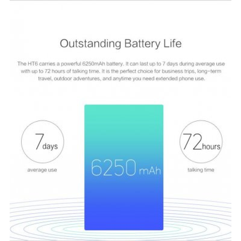 homtom ht6 battery life