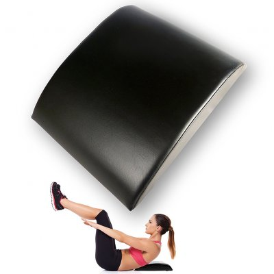 Ab Exercise Sit Ups Pad Abdominal Trainer Mat Comfortable PU Lower Back Support Fitness Equipments Black