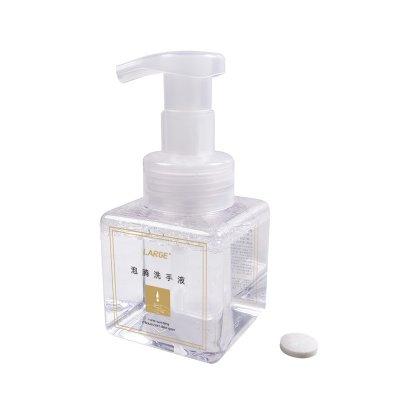 Effervescent Liquid Soap 10Pcs Effervescent Tablets + Foam Pressing Bottle Set Aloe Foam Cleansing Hand Washing Liquid 1 Set