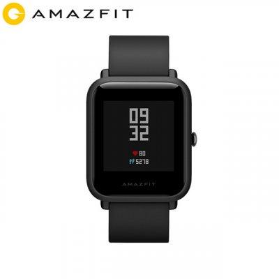 Huami Amazfit Bip Smart Watch Bluetooth GPS Sport Heart Rate Monitor IP68 Waterproof Call Reminder MiFit APP Alarm Vibration black