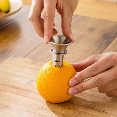 Thicken Mini Manual Stainless Steel Fruit Squeezer Juice Maker for Lemon Orange Silver