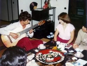 Chinmaya playing guitar